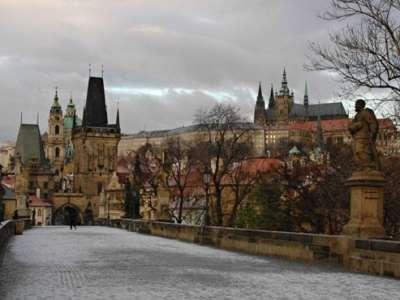 historické centrum města Prahy foto