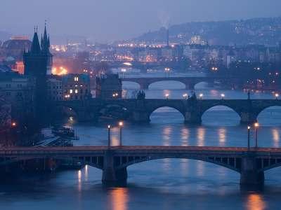 Pražské mosty foto