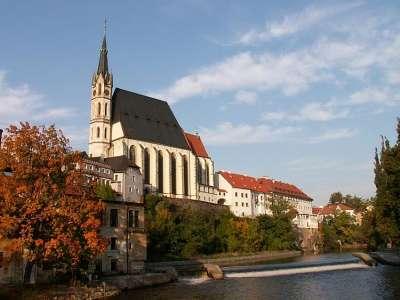 Kostel sv. Víta Český Krumlov foto