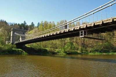 Řetězový most u Stádlce foto