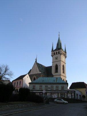 Vyhlídková věž kostela v Humpolci foto