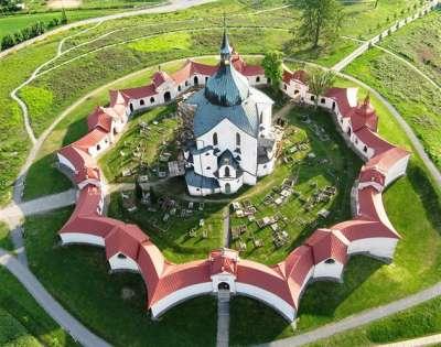 Poutní kostel na Zelené hoře foto