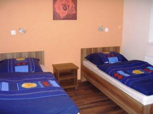 Jednolůžkové pokoje - modrá