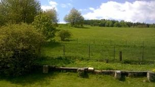 Pohled na zadní zahradu