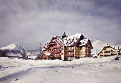 Hotel v zimě