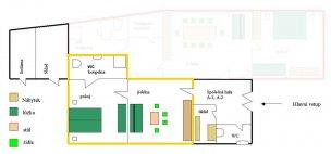 Apartmán A2 mapa