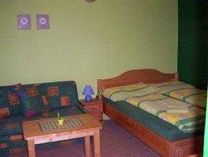 Dvoulůžkový pokoj - zelený