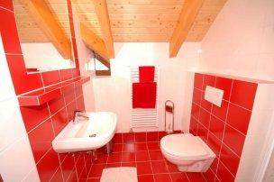 Koupelna - červená