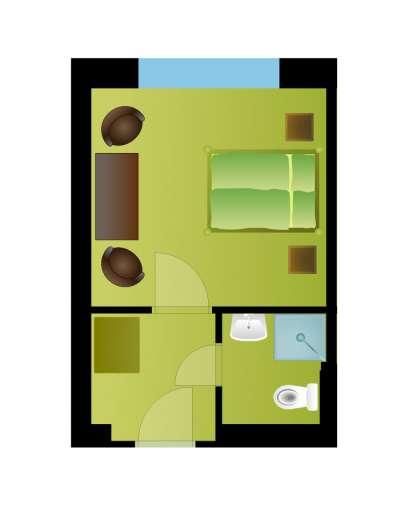 Dvoulůžkový pokoj s vlastním sociálním zařízením