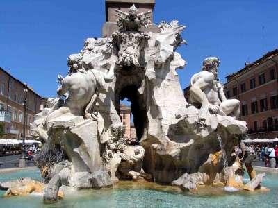 Fontána dei Quattro Fiumi foto