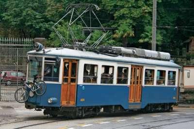 Tramvaj a lanovka v Terstu foto