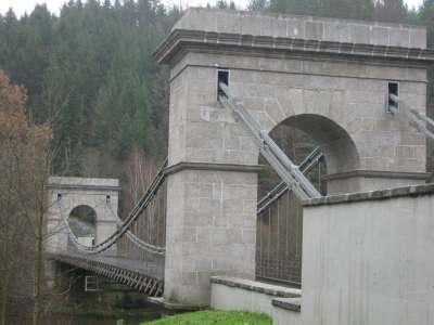 Stádlecký řetězový most foto