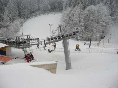 Ski areál Farský kopec foto