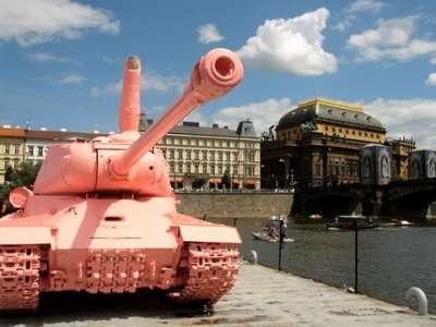 Růžový tank foto