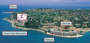 Poloha hotelů