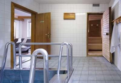 Hotelové wellness (finská sauna)
