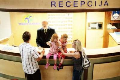Recepce pro hosty apartmánů Lipov Gaj v hotelu Lipa