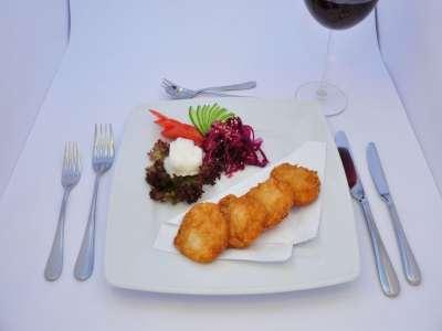 Saiko restaurant - smažené krevetové placičky