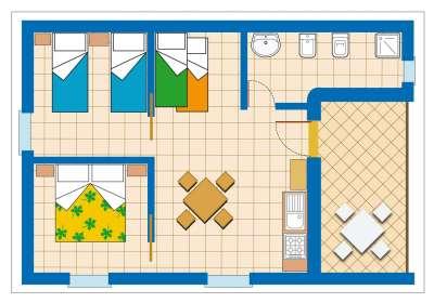 Zděné bungalovy TRILO 6