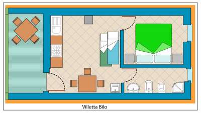 Zděné bungalovy BILO 4