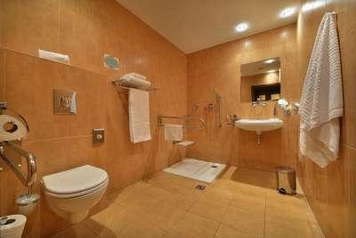 Bezbariérová koupelna