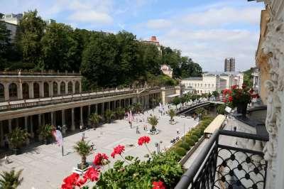 Výhled z ASTORIA HOTEL & MEDICAL SPA