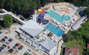 Aquapark - letecký pohled