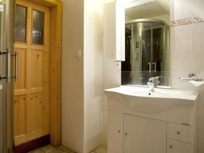 Koupelna v penzionu Koliba