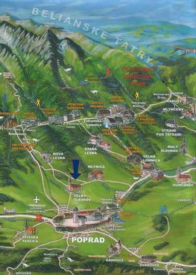 Mapa Tater