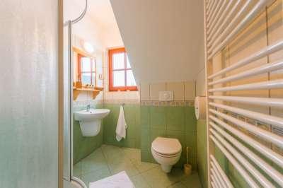 Dvoulůžkový pokoj v Kolibě - koupelna