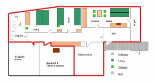 Apartmán A3 mapa