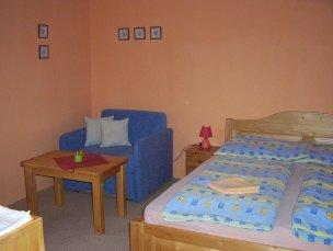 Dvoulůžkový pokoj - modrý