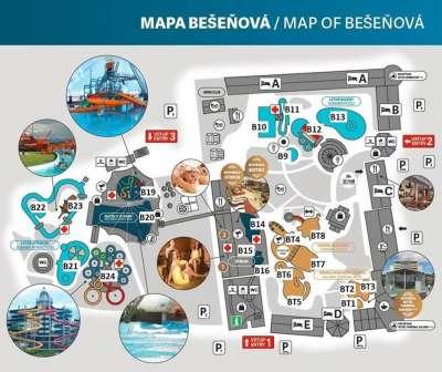 Mapa Bešeňové